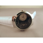 Dual Timezone Leather Watch - LDT-028-02